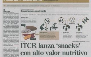 La producción de alimentos nutracéuticos fue resaltada por medio de una extensa nota en el periódico La Nación. (Imagen extraída de la publicación)