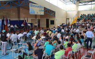 """Vista parcial de los asistentes al conversatorio: """"Situación y quehacer de las universidades públicas en la provincia de Guanacaste"""", organizado por los centros de educación superior estatal y la Subcomisión del Informe Estado de la Nación"""". (Foto cortesía UTN)."""