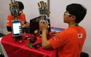 niños con robots