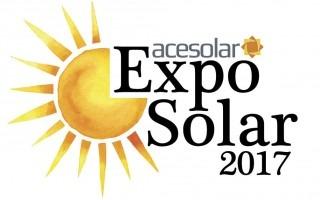 Logo de Exposolar, que contiene un sol y la leyenda Exposolar 2017.
