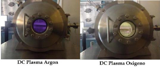 Descarga de plasma en Argón y Oxigeno, PlasmaTEC