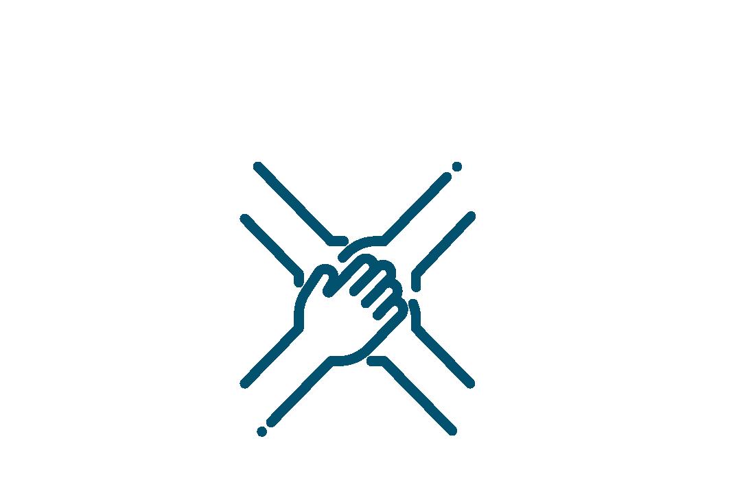 Cuatro manos juntas, participación ciudadana