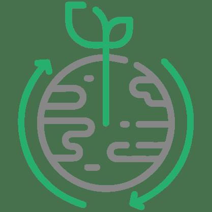 Planeta con planta creciendo