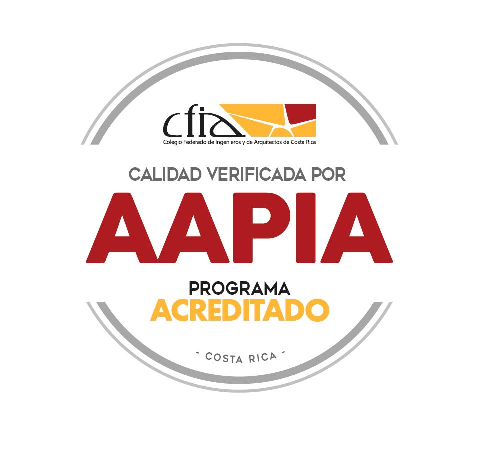 Carrera acreditada por Agencia de Acreditación de programas de Ingeniería y de Arquitectura (AAPIA)