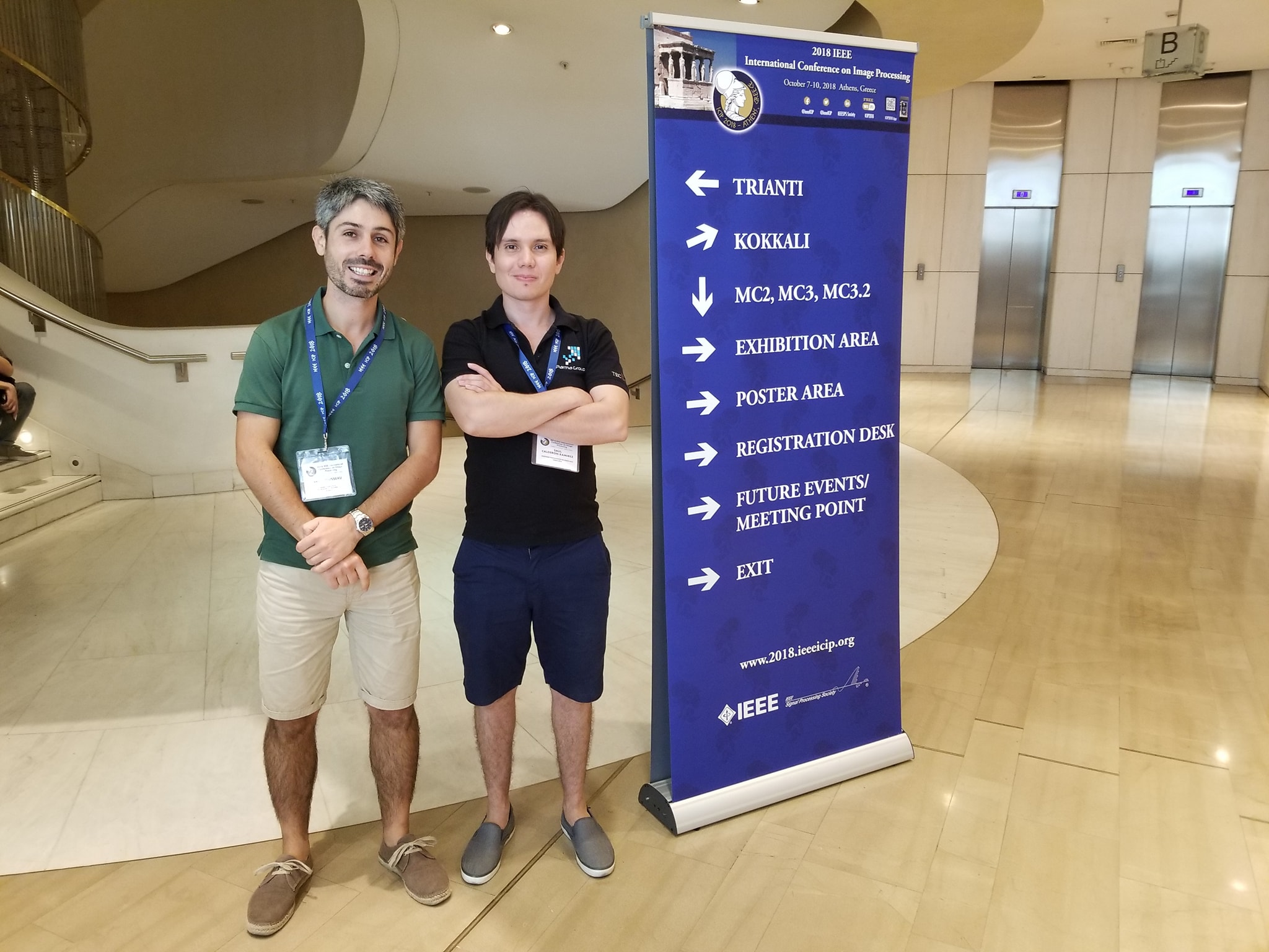 Participation of Saúl Calderón in International Conference on Image Processing 2018, in Athens, Greece.