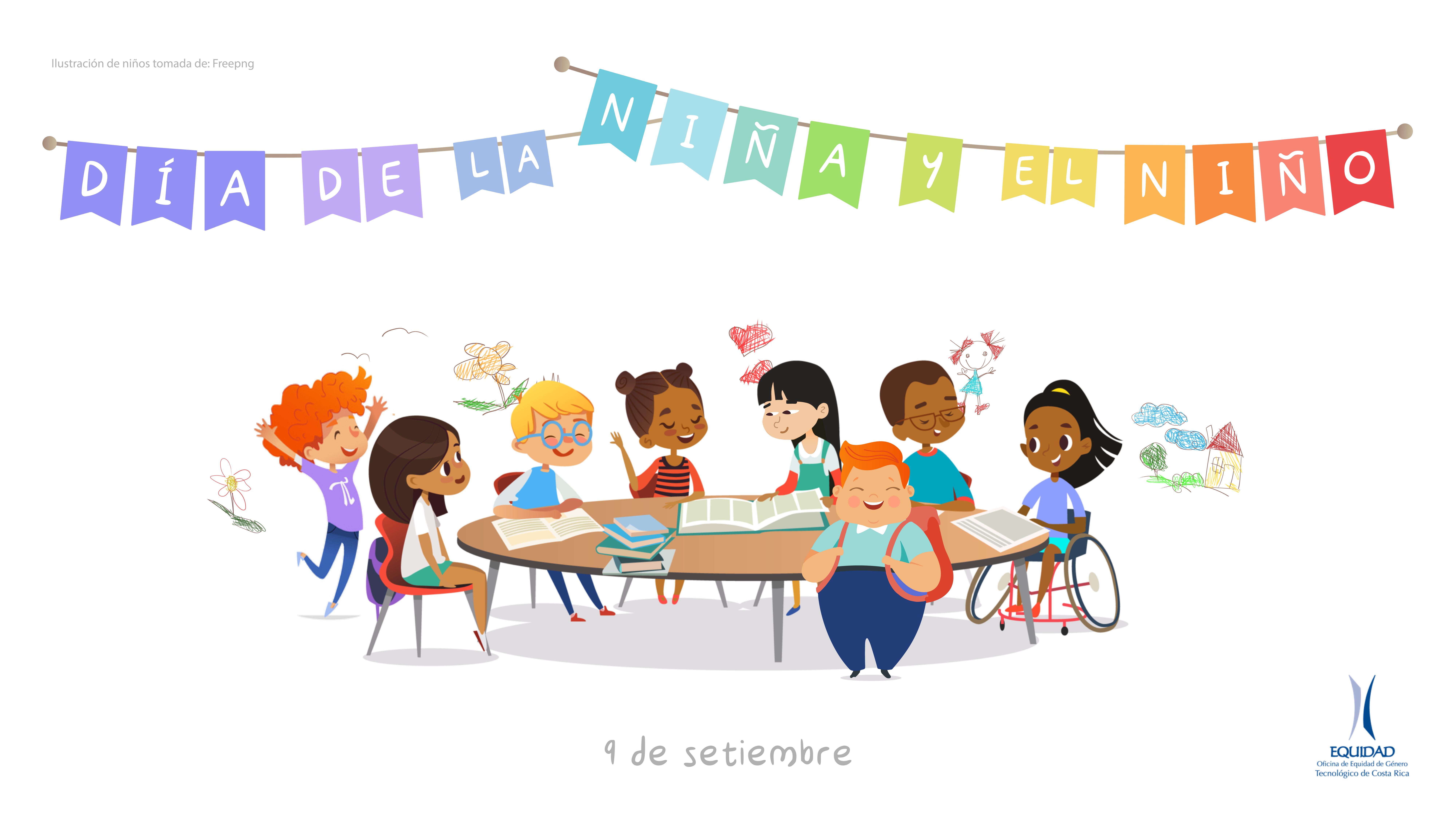 """""""Banner para el 9 de setiembre: Día de la niña y el niño en Costa Rica."""""""