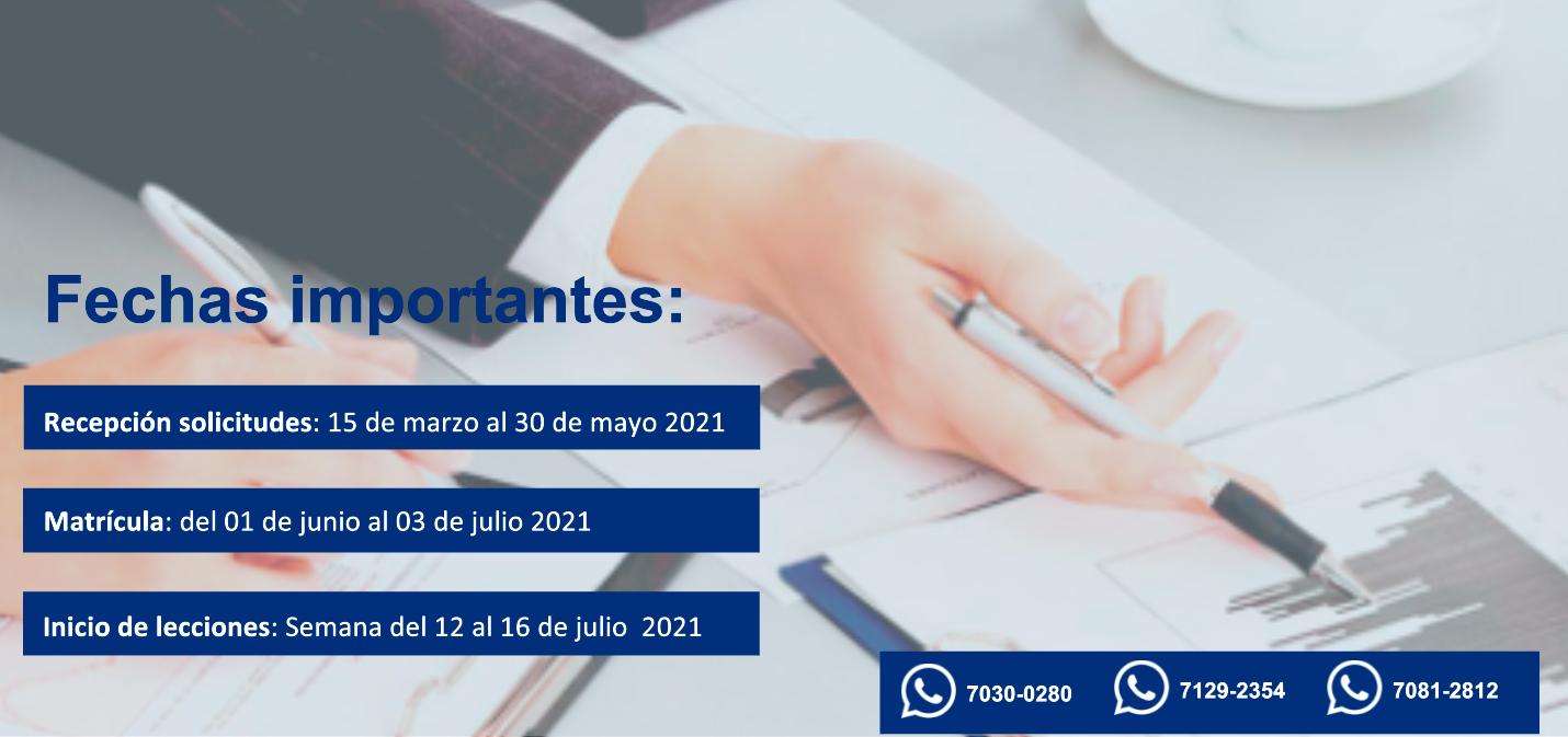 fechas importantes, recepción de documentos, matrícula e inicio de lecciones