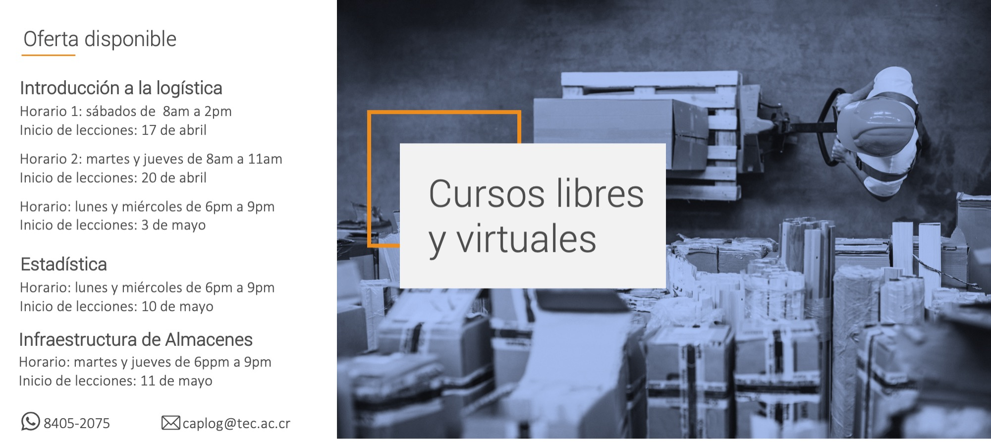 cursos libres y virtuales de abril y mayo