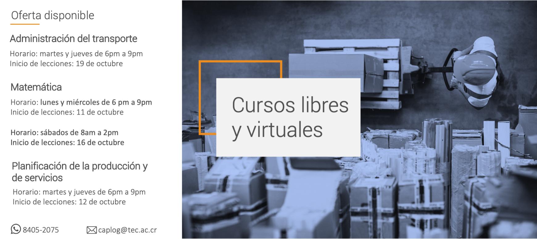 cursos libres y virtuales de octubre