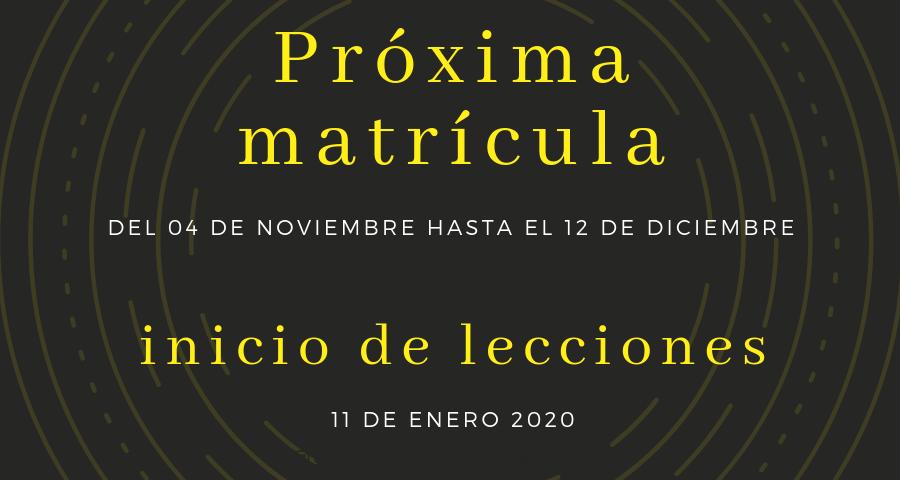 Técnico Electricidad Industrial,matricula enero 2020