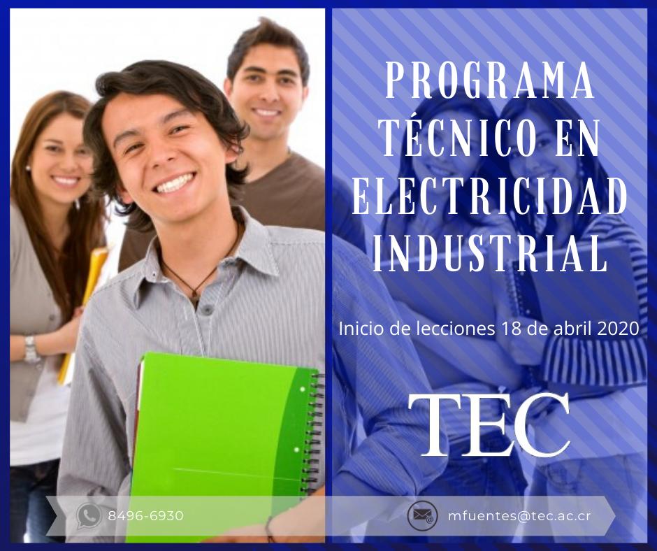 Técnico Electricidad Industrial TEC,matricula ABRIL 2020