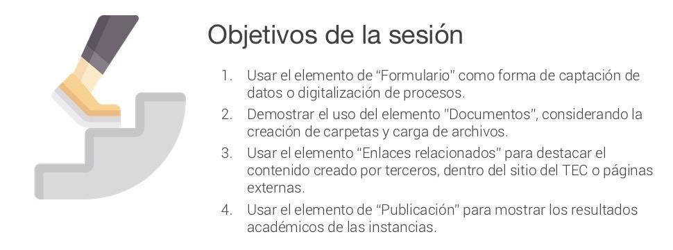objetivos de la sesión virtual jueves 31 de enero