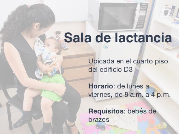 información sala de lactancia sede central cartago