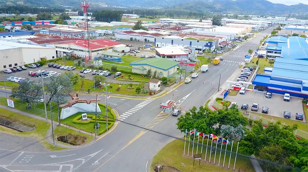 vista aerea parque industrial cartago