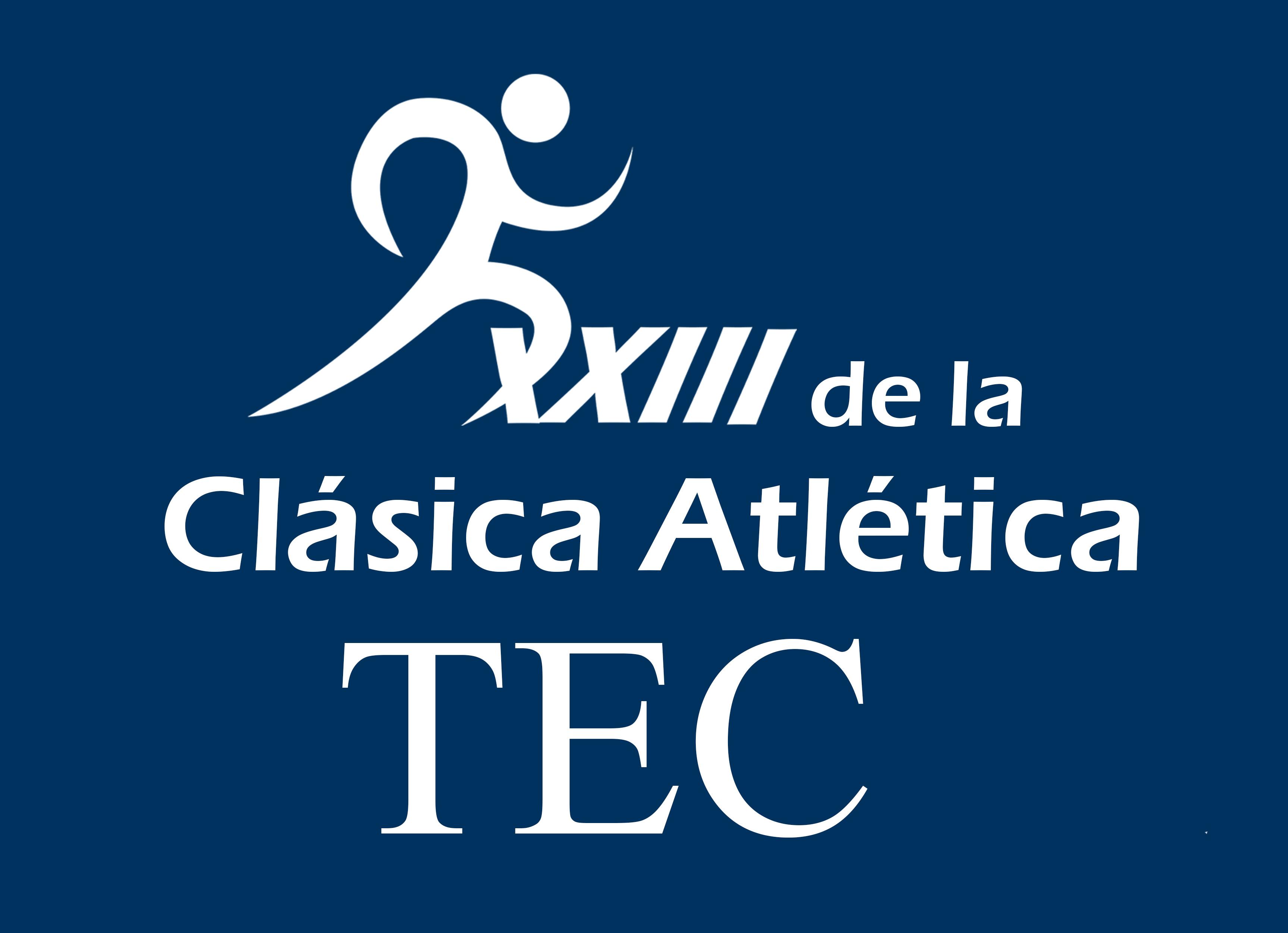Logo de la carrera con la figura de un corredor.