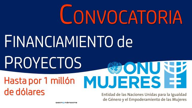 banner convocatoria ONU Mujeres