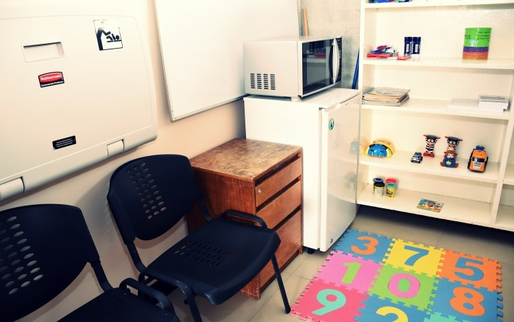 Sala de lactancia ubicada en el edificio D3, cuarto piso
