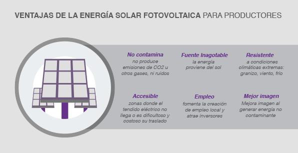 Ventajas de la energía solar fotovoltaica para productores