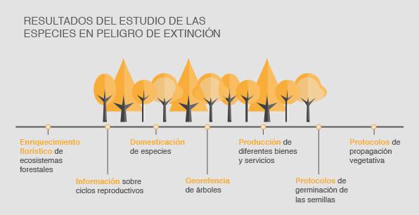 Resultados del estudio de las especies en peligro de extinción