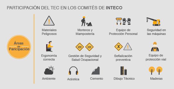 Participación del TEC en los Comités de INTECO