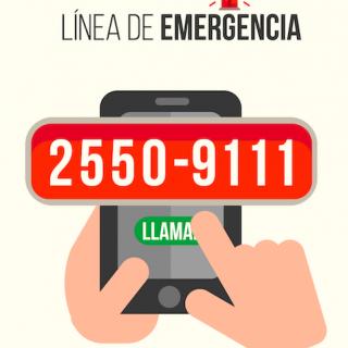 línea emergencia 25509111