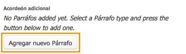 botón para incluir acordeón adicional de información