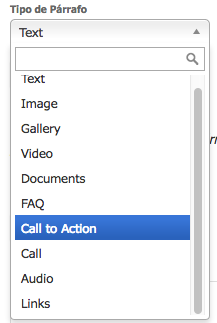 botón de llamado a la acción