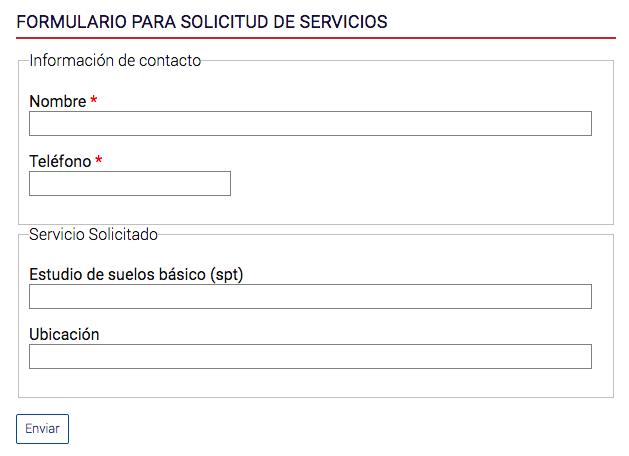 ejemplo de formulario con conjuntos de campos