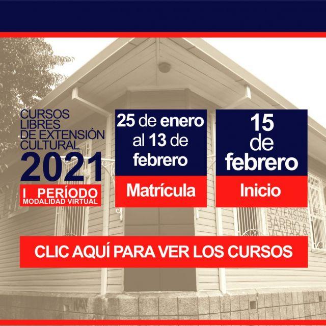 Enlace cursos libres de la Casa Cultural Amón para el I Período 2021