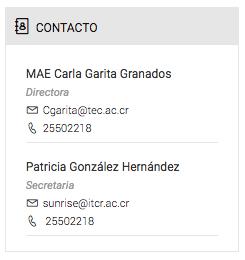 formato del contacto administrativo