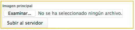 En la barra administrativa seleccione la opción examinar y subir al servidor.