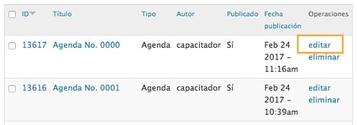 editar agenda paso 3