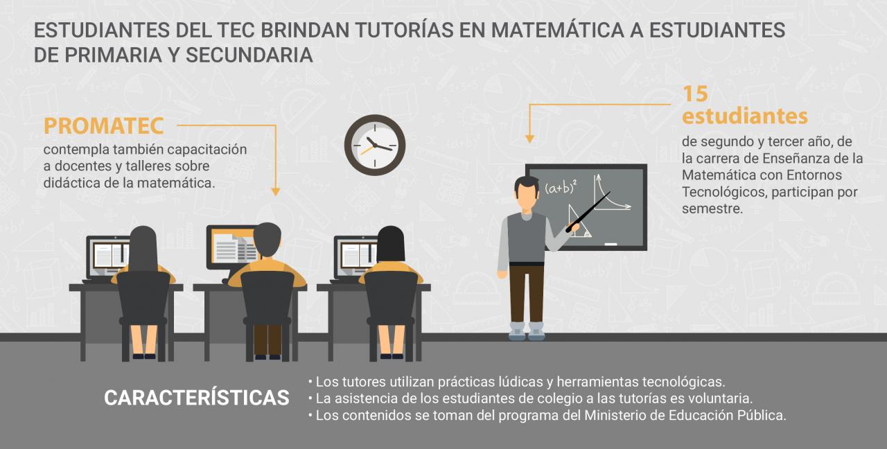 infografia tutorías matemática