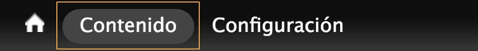 Imagen con la información de contenido y configuración.