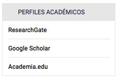 Ejemplo de perfiles académicos.