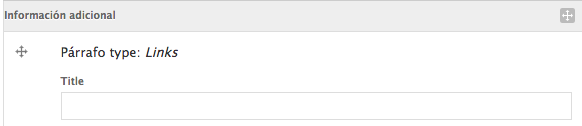 campo título de la caja de enlaces