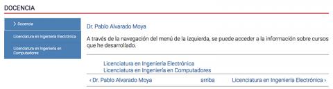Ejemplo de un libro, página del Dr. Pablo Alvarado.