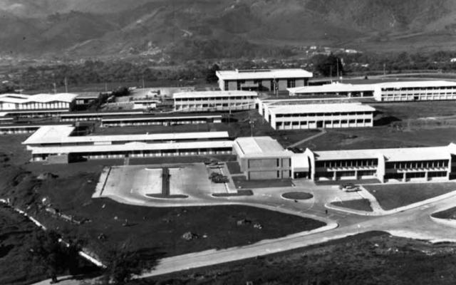 Imagen antigua del campus.