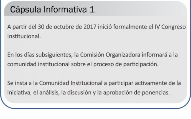 Capsula No.1: Convocatoria a IV Congreso