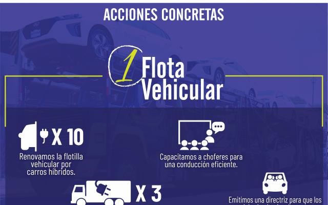 acciones en la flota vehicular