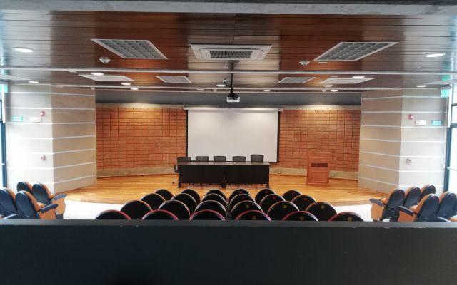Auditorio vista de frente del escenario