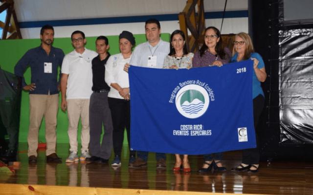 COMPDES 2018, primer evento del TEC en obtener  la Bandera Azul Ecológica, categoría  Eventos Especiales
