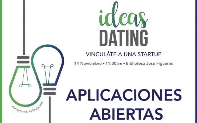 Afiche del evento 3º Edición de Ideas Dating: Vinculáte a una Startup