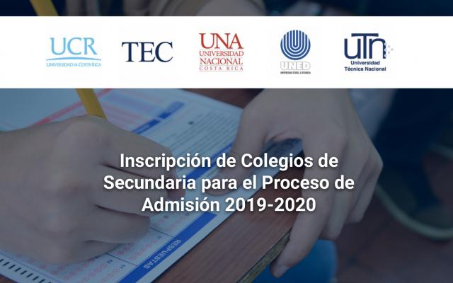 Logo de la UCR, TEC, UNA, UNED y UTN.