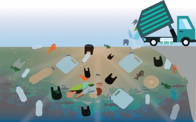 Costa Rica tira al mar 15 camiones de plástico por día