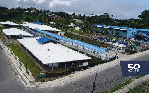 Vista aérea del Centro Académico de Limón.