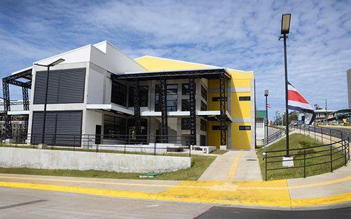 Edificio de la biblioteca.