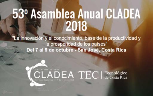 53º Asamblea Anual Cladea 2018. 7 al 9 de octubre.