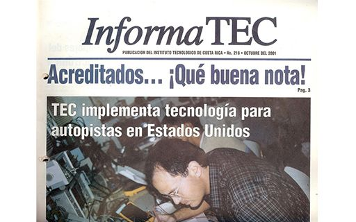 Cover of the InformaTEC newspaper highlighting the first accreditations of the TEC, in 2001.