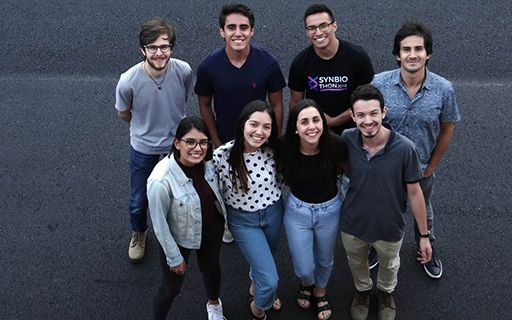 Eight young people from the IGem team.